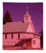 Church In Spirit Lake Idaho  Fleece Blanket