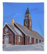 church of Ilulissat - Greenland Fleece Blanket