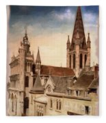 Church Of Notre-dame Of Dijon France - Remastered Fleece Blanket