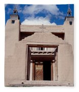 Church Of San Jose De Garcia, Las Fleece Blanket