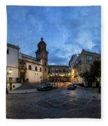 Church Of Santo Domingo Panorama Cadiz Spain Fleece Blanket