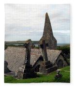 Church Of St. Enodoc Fleece Blanket