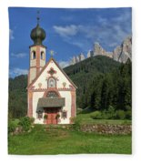 Church Of St. Johann In Ranui Fleece Blanket