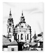 Church Of St Nikolas Fleece Blanket