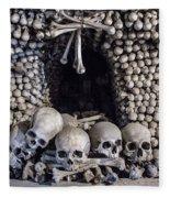 Church Of The Bones Fleece Blanket