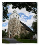 Church Of The Holy Cross At Rauma Fleece Blanket
