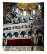 Church Of The Holy Sepulchre Interior Fleece Blanket