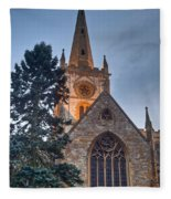 Church Of The Holy Trinity Stratford Upon Avon 4 Fleece Blanket