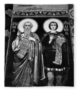 Church Of The Saviour On Spilled Blood, Saint Petersburg #3.    Black And White Fleece Blanket