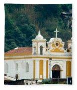 Church Of The Transfiguration Quetzaltenango Guatemala 2 Fleece Blanket