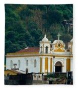 Church Of The Transfiguration Quetzaltenango Guatemala Fleece Blanket