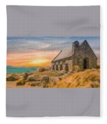 Church On The Hill Fleece Blanket