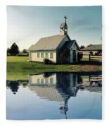 Church Reflection Fleece Blanket