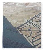 Church Shadow Steps Fleece Blanket