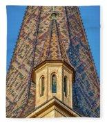 Church Spire Details - Romania Fleece Blanket