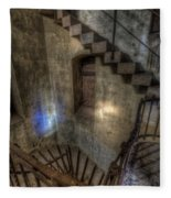 Church Stairs Above Fleece Blanket