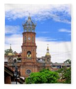 Church Steeples In Puerto Vallarta Fleece Blanket