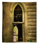 Church Window Church Bell Fleece Blanket