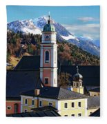 Churches In Berchtesgaden Fleece Blanket