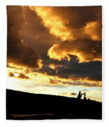 Churning Clouds 1 Fleece Blanket