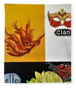 Ciao Means Hello Fleece Blanket
