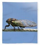Cicada On The Line Fleece Blanket