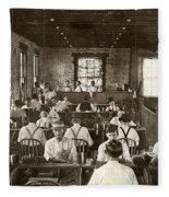 Cigar Factory, 1909 Fleece Blanket