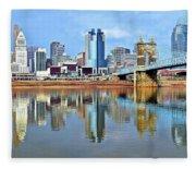Cincinnati Ohio Times Two Fleece Blanket