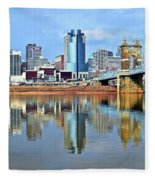 Cincinnati Ohio Times Two Fleece Blanket