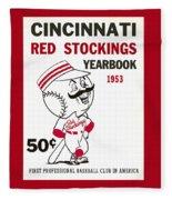 Cincinnati  Reds 1953 Yearbook Fleece Blanket