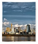 Cincinnati Skyline Hdr Fleece Blanket