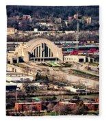 Cincinnati Union Terminal Fleece Blanket