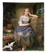 Cinderella And The Birds Fleece Blanket