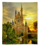 Cinderella Castle - Monet Style Fleece Blanket