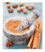 Cinnamon In Mortar Fleece Blanket