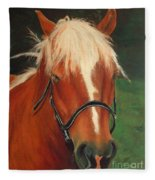 Cinnamon The Horse Fleece Blanket