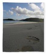 Cinnamon Toes In The Sand Fleece Blanket