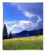 Cinquefoil Blossoms Fleece Blanket