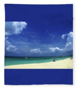 Circle Of Clouds On Grand Cayman Fleece Blanket