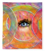 Circle Of Eyes Fleece Blanket
