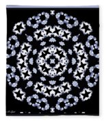 Circle Of Stars And Flowers Fleece Blanket
