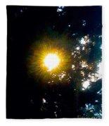 Circle Of Sunglow Through Pine Fleece Blanket