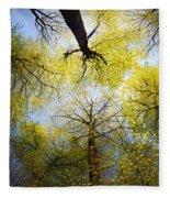 Circle Of Trees Fleece Blanket