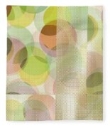 Circle Pattern Overlay II Fleece Blanket