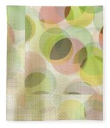 Circle Pattern Overlay Fleece Blanket