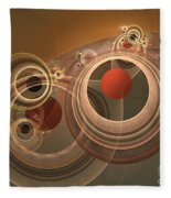 Circles And Rings Fleece Blanket