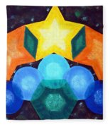 Circles And Stars Fleece Blanket