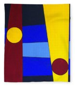 Circles Lines Color Fleece Blanket