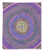 Circles Of Circles In Circles Fleece Blanket