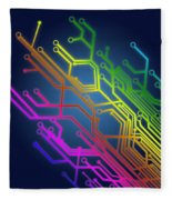 Circuit Board Fleece Blanket